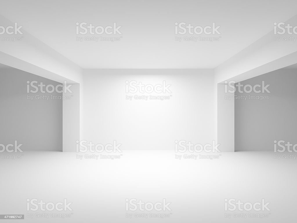 Abstract white empty interior perspective background stock photo