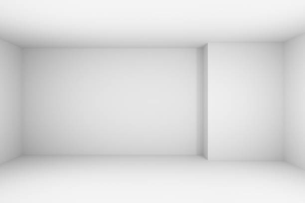 abstract white empty room, simple illustration. - empty room zdjęcia i obrazy z banku zdjęć
