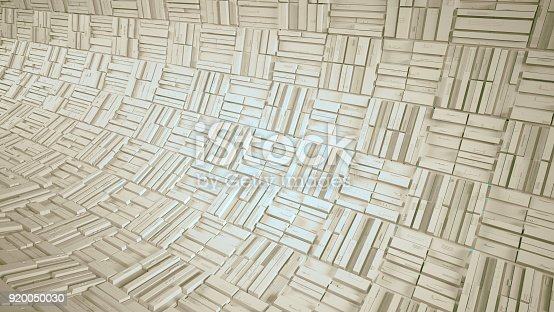 istock Abstract white futuristic 3d background 920050030