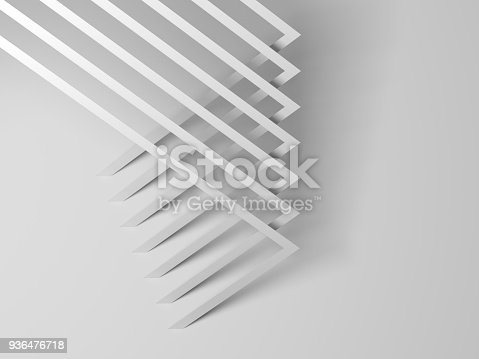 927319980 istock photo Abstract white geometric pattern 3 d 936476718