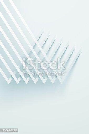 927319980 istock photo Abstract white geometric pattern 3d art 936476748