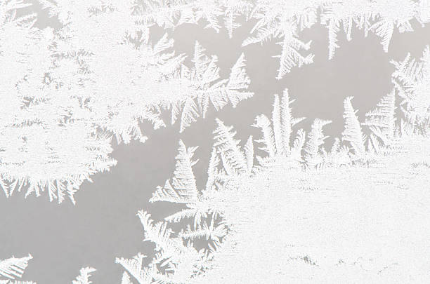 abstract white ice flower background - ice crystal stock pictures, royalty-free photos & images
