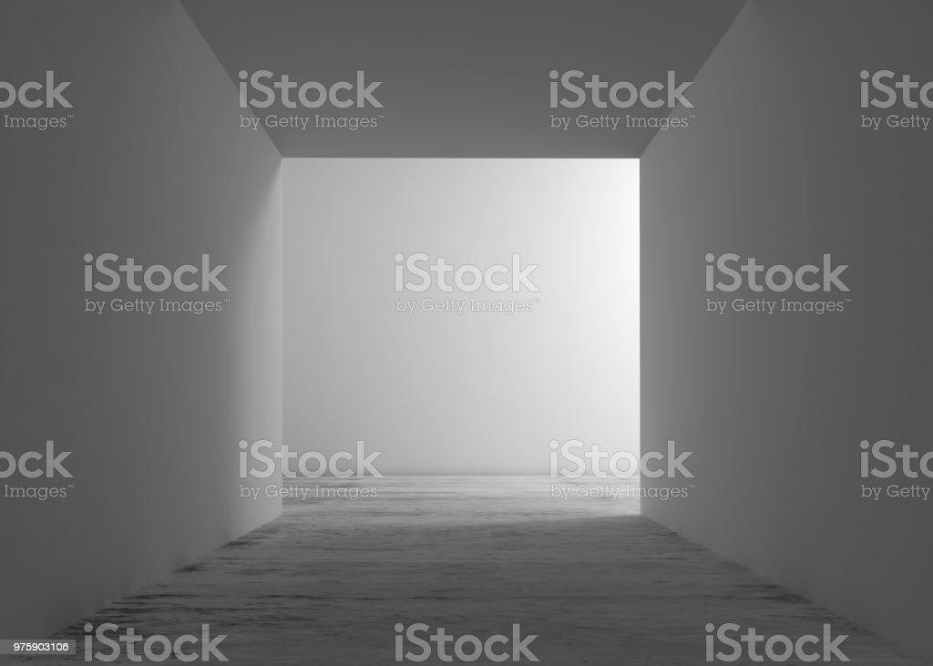Abstrakte weißen Innenraum Hintergrund, Tür Nische – Foto