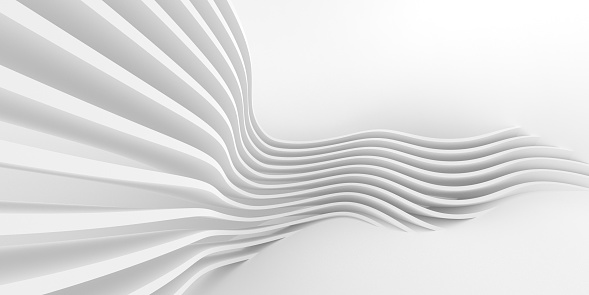 Modern white abstract lines are flowing background. Abstract backgrounds and art concepts. Easy to crop for all print and social media sizes. Copy space.