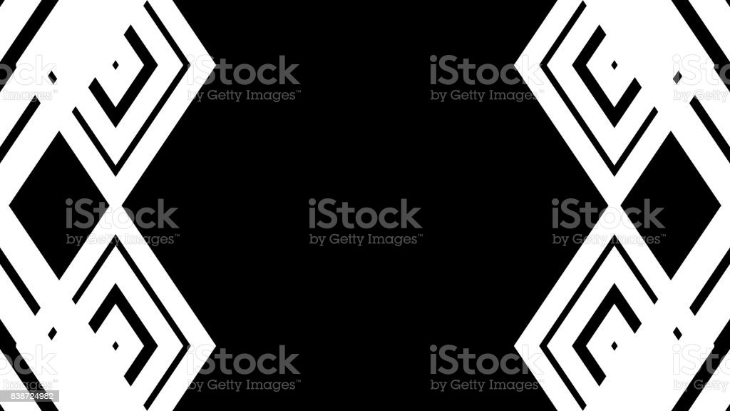 Abstract white lines. Technology background stock photo