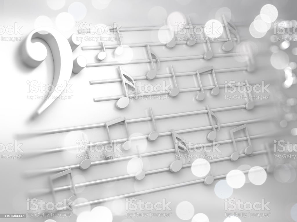 Abstract White Music Background Musical Notes And Symbols For Christmas Carol Stock Photo Download Image Now Istock