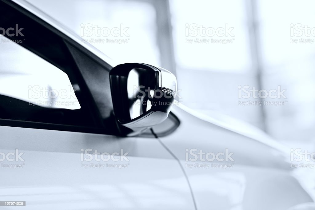 abstract white new car royalty-free stock photo
