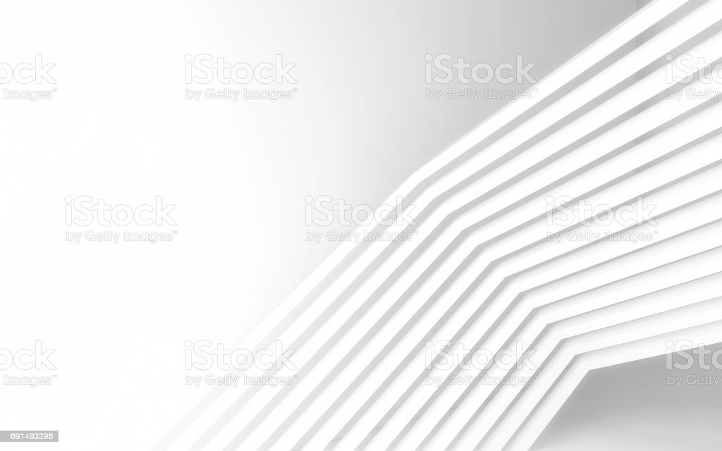 Abstract white panels with copyspace for text. 3D render stock photo