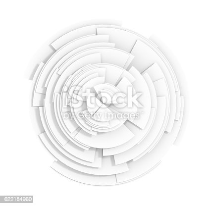 istock Abstract white pie chart 622184960