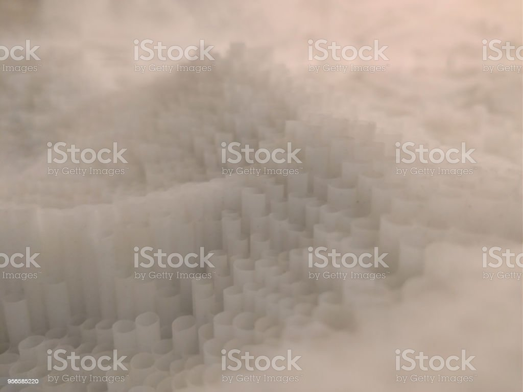 abstract white plastic hives stock photo