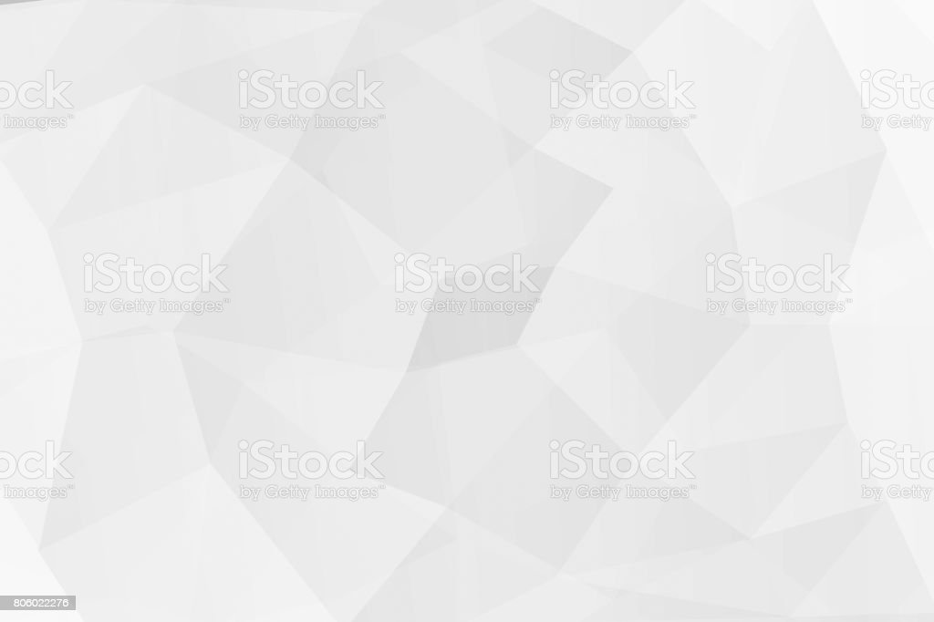 Abstract white polygon background on texture. stock photo