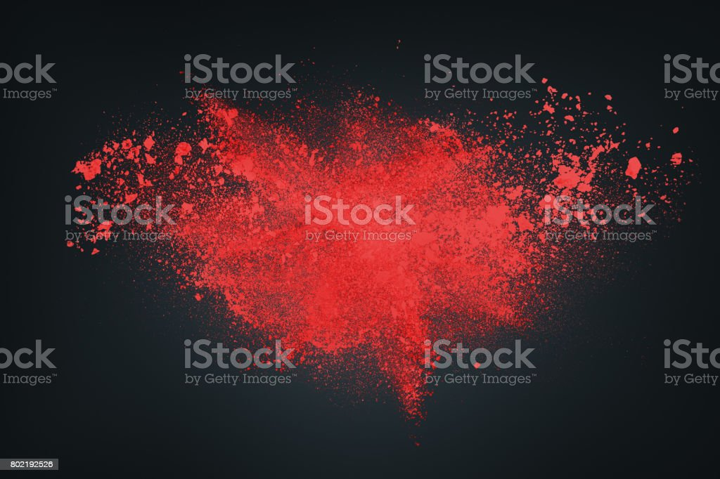Abstract white red against dark background stock photo