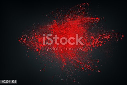 862273526istockphoto Abstract white red against dark background 802244352
