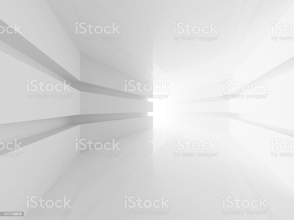 Exceptional Abstrakte Weißen Raum Innenraum Mit Glühend Doorway. 3d Render Lizenzfreies  Stock Foto