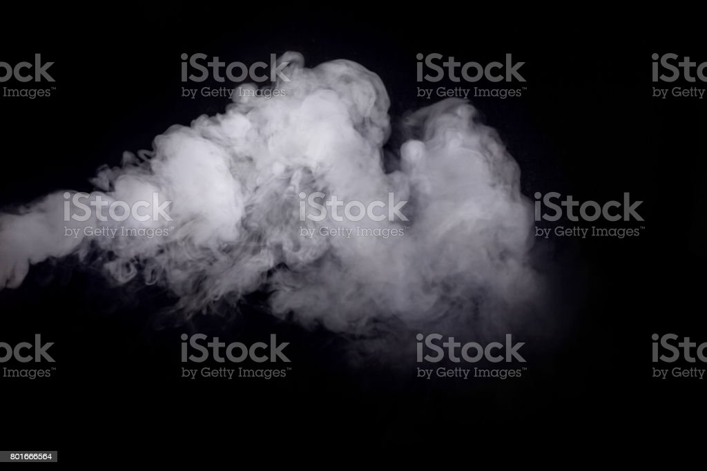 Humo sobre fondo oscuro abstracto blanco - foto de stock