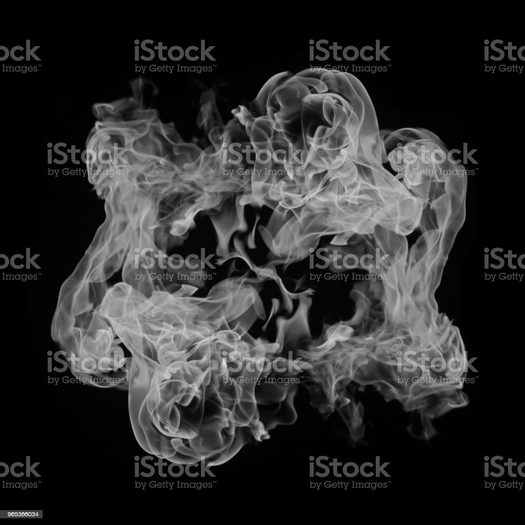 Abstract white smoke isolated on black zbiór zdjęć royalty-free