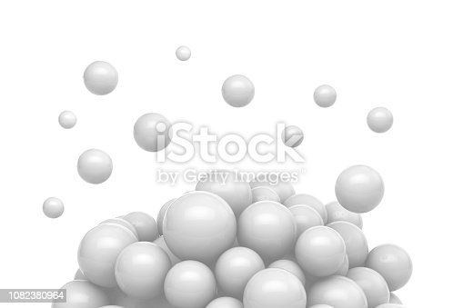 istock Abstract White Sphere Background 1082380964