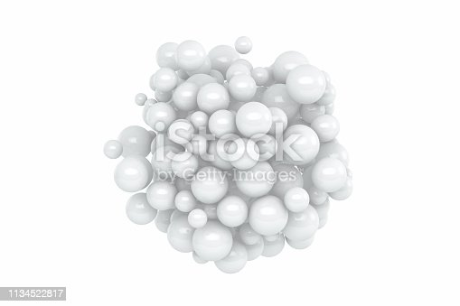 istock Abstract White Sphere Background 1134522817