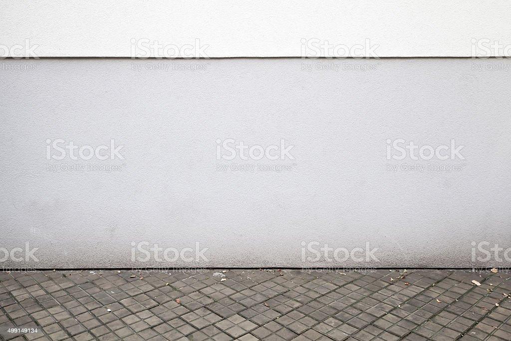 Abstrakte weißen städtischen Hintergrund Interieur mit dunklen Fliesen – Foto
