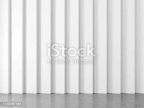 istock Abstract white wall Mockup background 1145287164