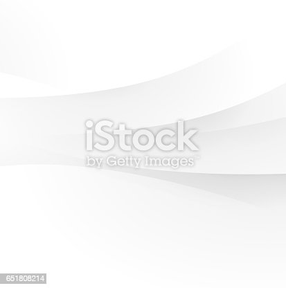 istock Abstract white wave 651808214