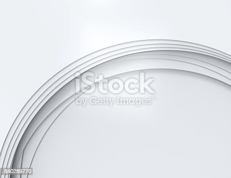 istock Abstract white wave 840289770