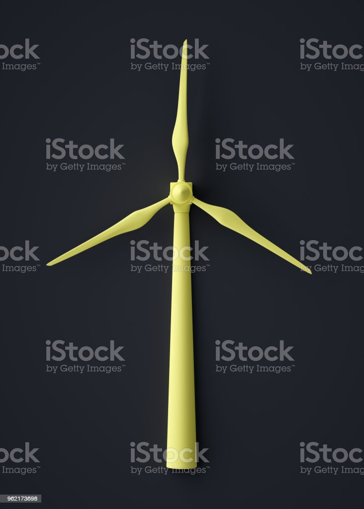 Abstract Wind Turbine Symbol Stock Photo More Pictures Of Abstract