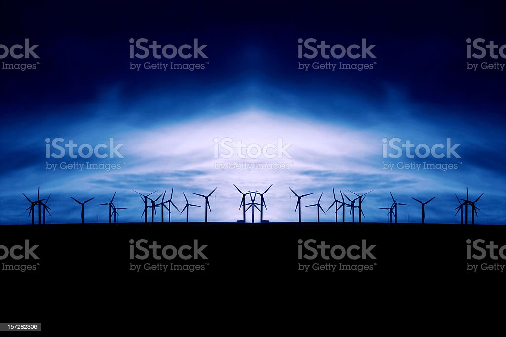 Abstract Windmills royalty-free stock photo