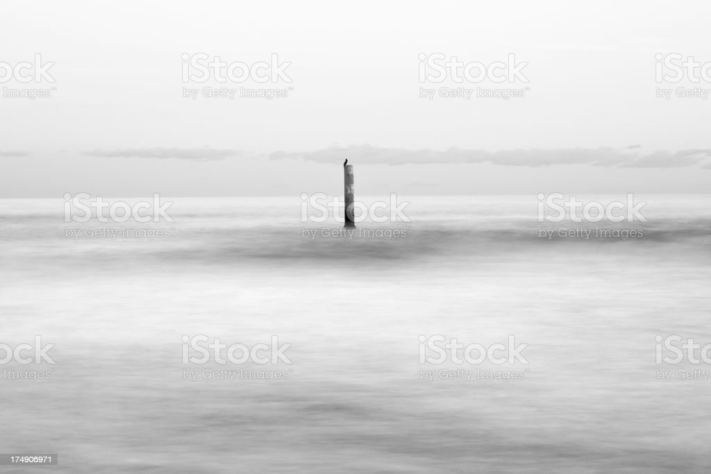 Abstract winter seaview royalty-free stock photo