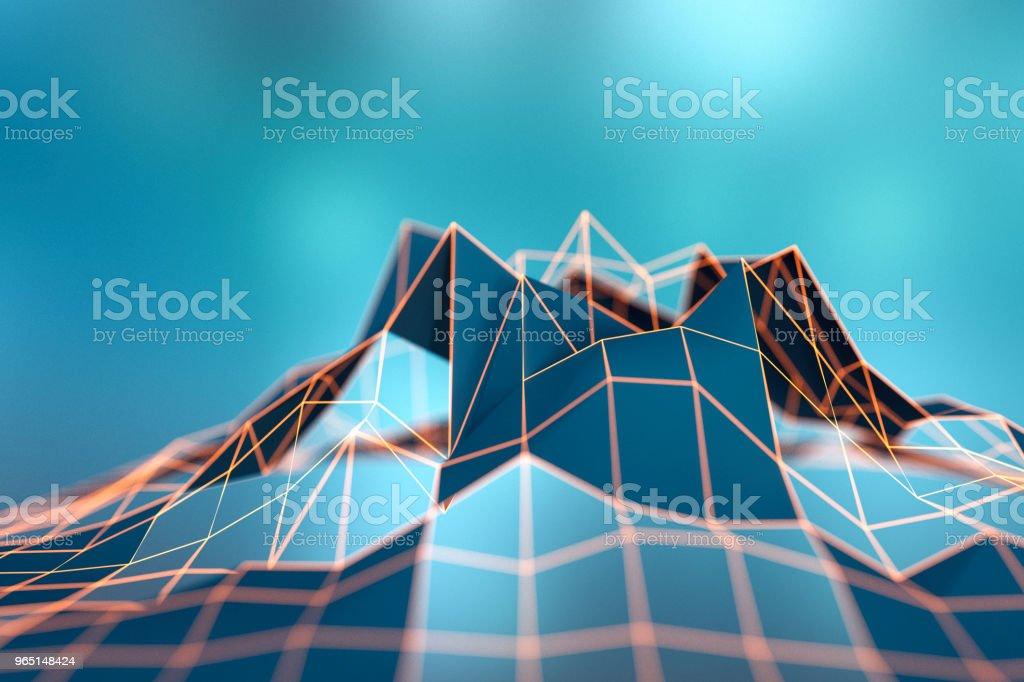 Abstract wire frame data mountain background zbiór zdjęć royalty-free