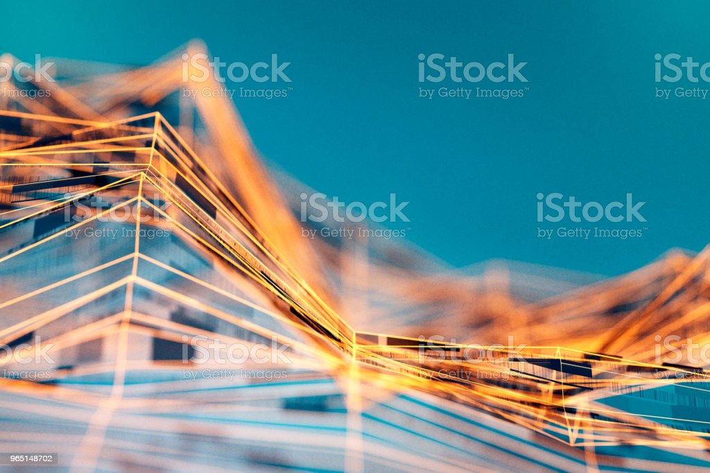 Abstract wire frame data mountain background royalty-free stock photo
