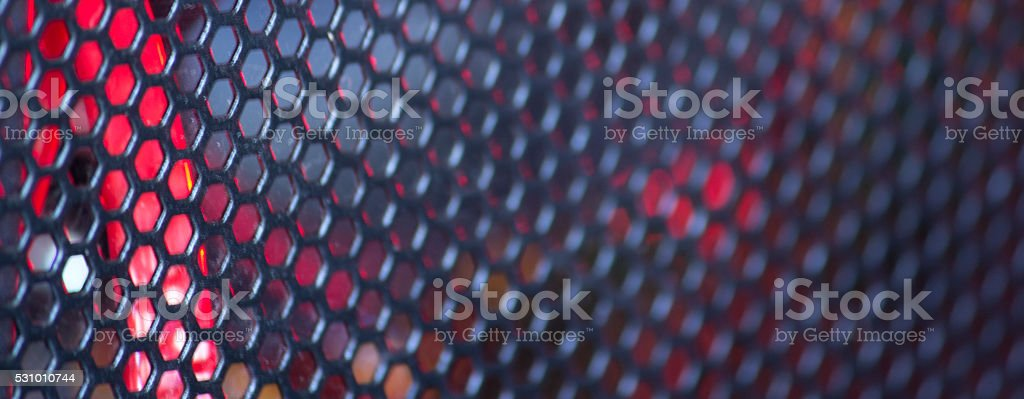 Abstract wire mesh red stock photo