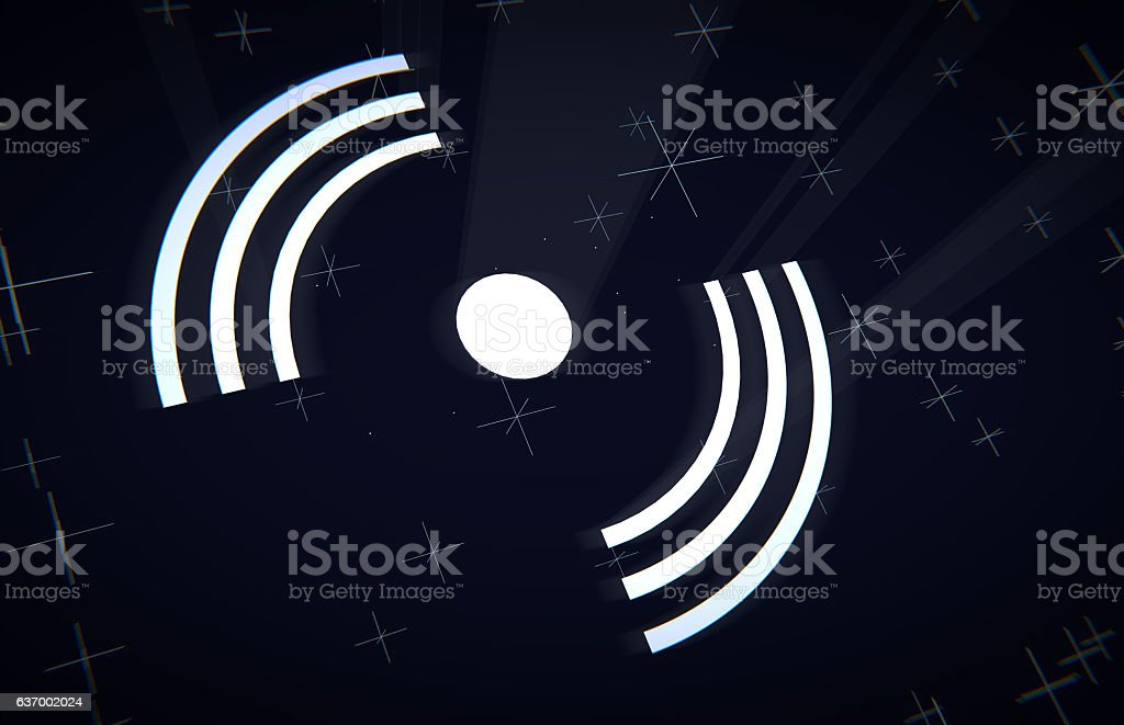 Abstract Wireless Networking Technology Concept stock photo