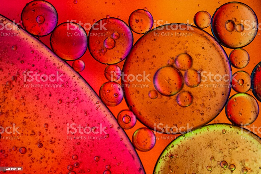Abstract with Oil and Water 7 stock photo