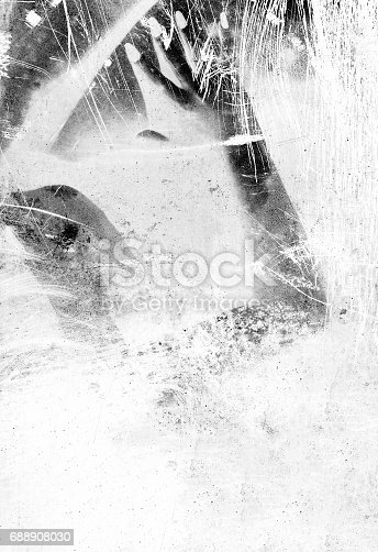 istock Abstract with scanograph - arm and hand 688908030