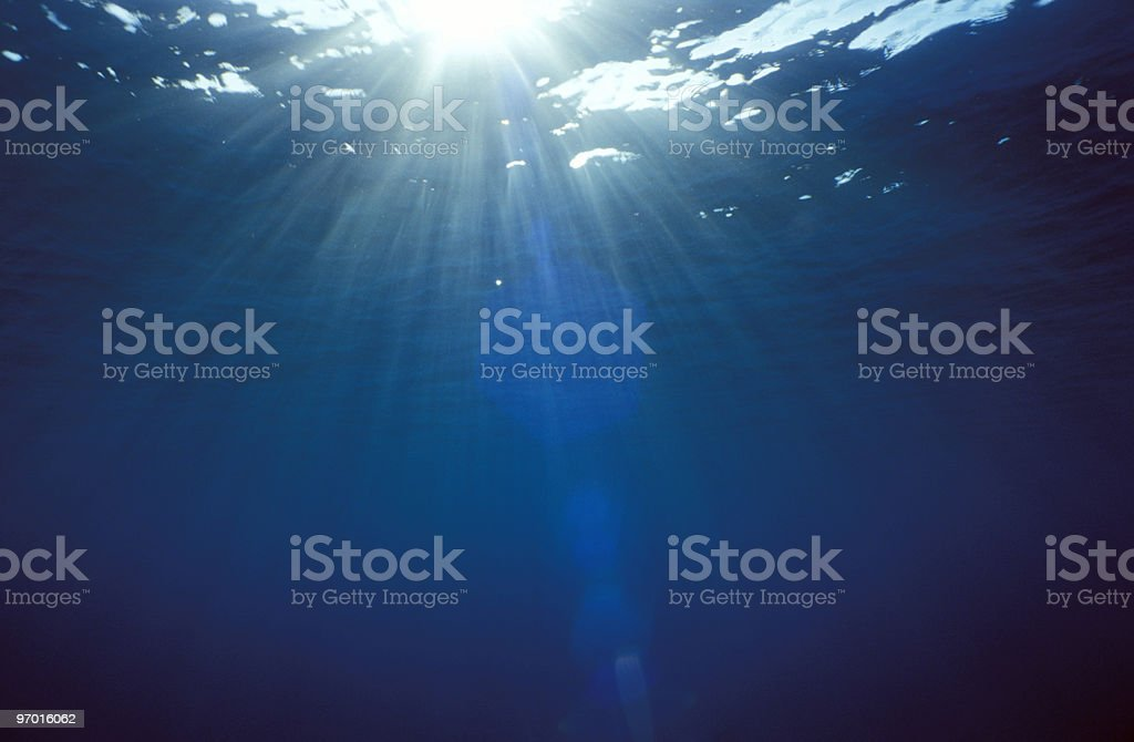 abstract with water and sun rays stock photo