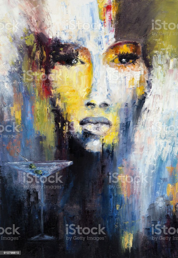 Abstract woman stock photo