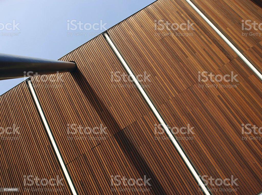 Abstrakte hölzernen Dach Hintergrund Lizenzfreies stock-foto