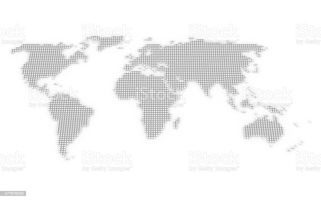 Abstract world map - dots - design element stock photo