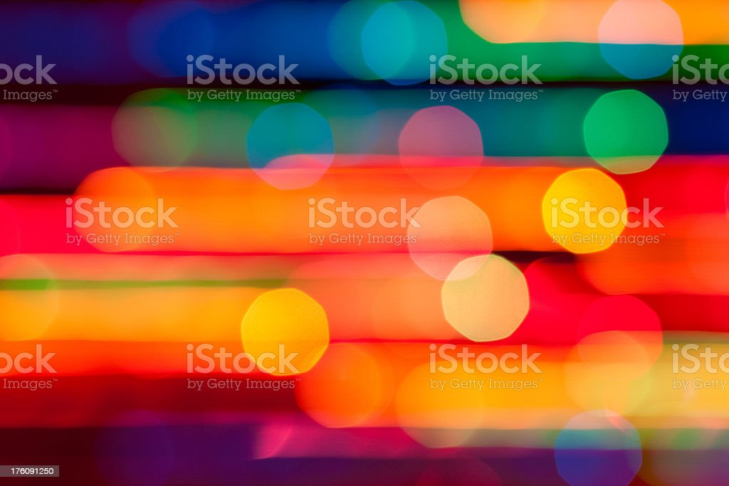Abstract Xmas Lights stock photo