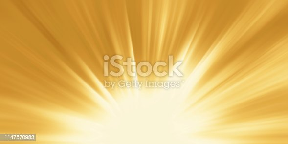 istock Abstract yellow background. Magic light with gold burst 1147570983