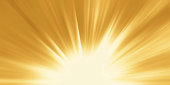 Abstract yellow background. Magic light with gold burst. Gold light. Gold Radial nature abstract background