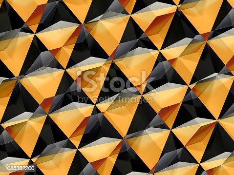 871774704istockphoto Abstract yellow black geometric pattern 3d 1085382200