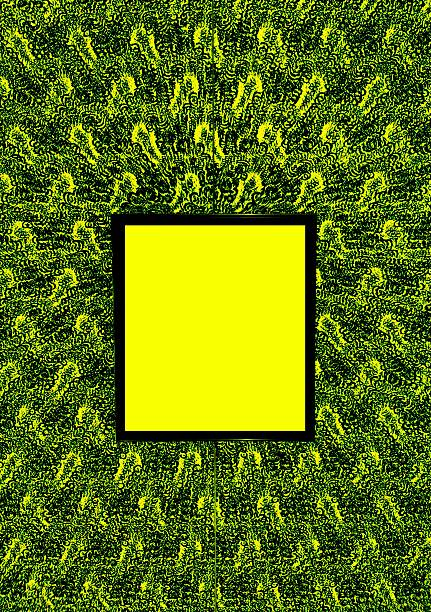 Abstract yellow frame