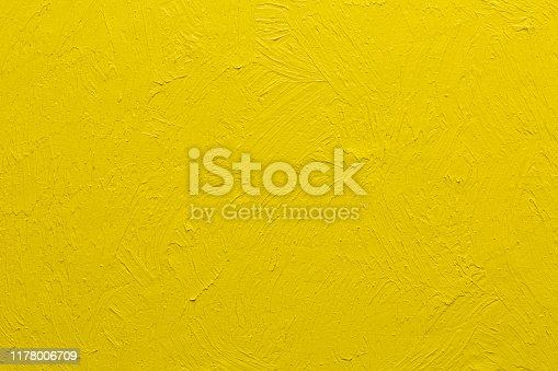 istock Abstract yellow oil painting brushstrokes background 1178006709