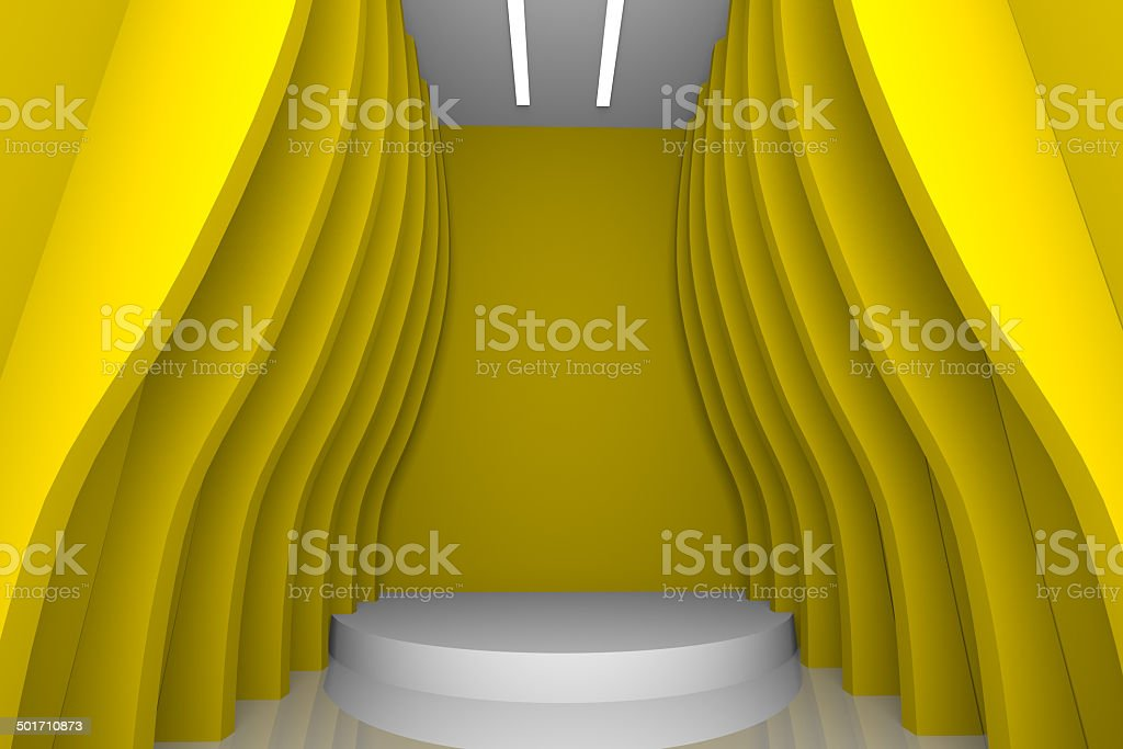 abstract yellow wall royalty-free stock photo
