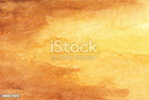 istock Abstract Yellow Watercolor Background 980677978