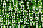 istock Abstract zigzag pattern with waves in green and white tones. Artistic image processing created by floral photo. Beautiful multicolor pattern for any design. Background image 1269332083