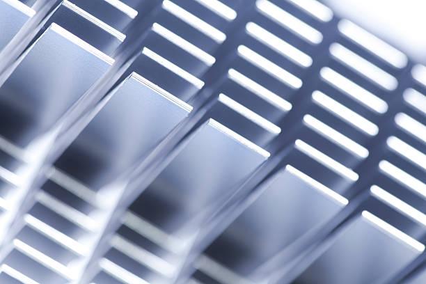 abstract_alu_cooler - ambient temperature imagens e fotografias de stock