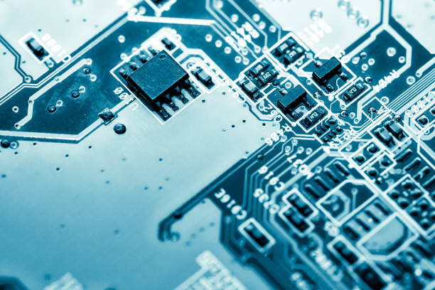 Abstract,close up of Mainboard Electronic background. (logic board,cpu motherboard,circuit,system board,mobo) – zdjęcie